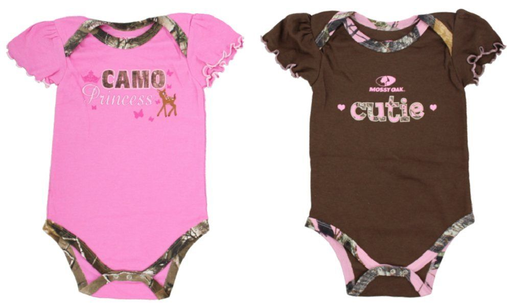 Mossy Oak Baby Girl Creeper 2 Pack - Assorted Sizes: Spoil your baby girl  with this super soft cotton baby creeper set./p The set comes with two baby  ...