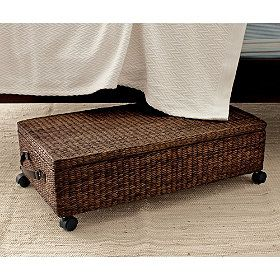 Under Bed Storage Box With Lid Dark Brown Don T Like Plastic Here S An Option For You
