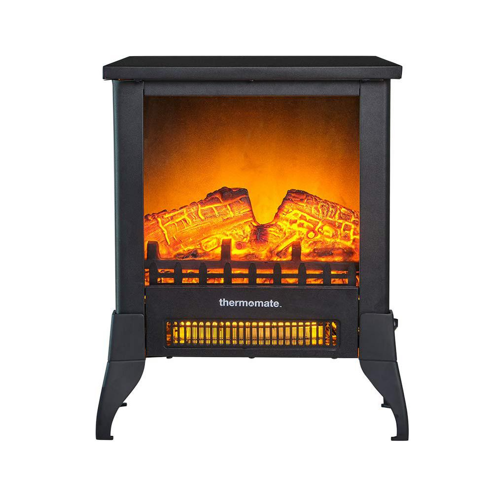 Thermomate 15 In Portable Freestanding Electric Fireplace In Black Csa Approved Eff141 The Home Depot In 2021 Portable Electric Fireplace Electric Fireplace Electric Fireplace Heater