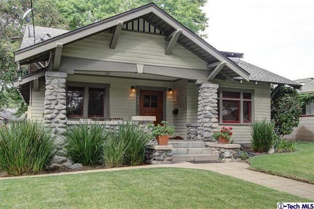 Stoney craftsman pasadena amazing stained trim for Pasadena craftsman homes