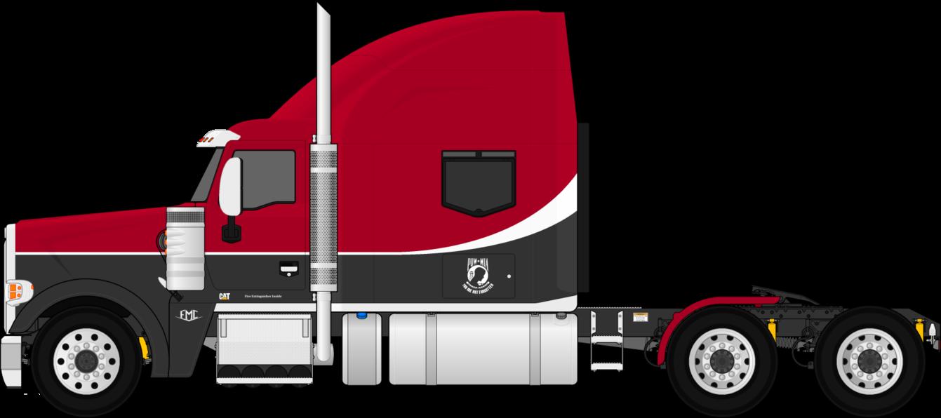 Semi Truck Drawings   FMC 850C Fictional Semi-Trailer ...