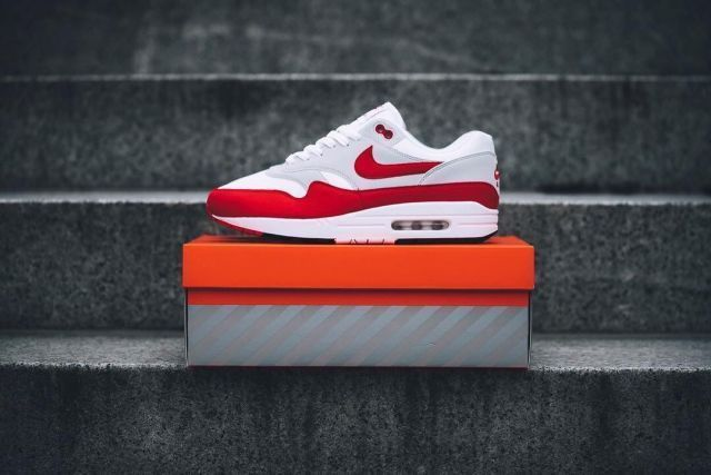 82a52361f6d 908375-103  MEN S NIKE AIR MAX 1 OG 30TH ANNIVERSARY RED WHITE  NEW ...