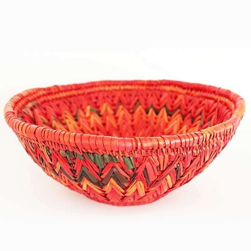 Shop Red Handmade Moonj Basket Online At Madhurya From A Huge Range