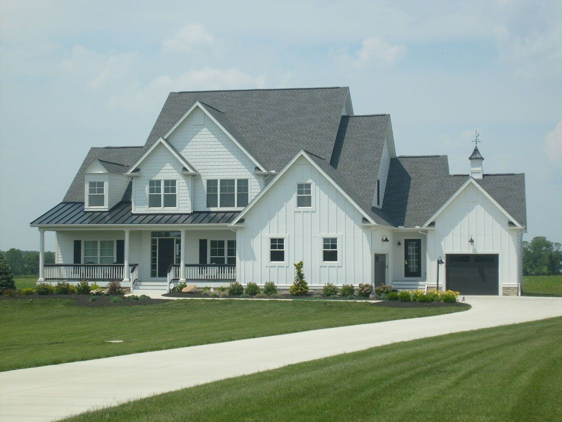 Charcoal Roofs And White Houses White Siding Black