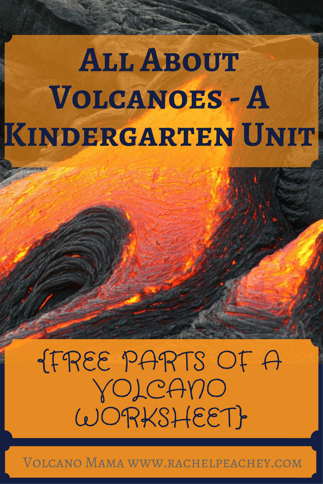 All About Volcanoes A Kindergarten Unit Free Parts Of A