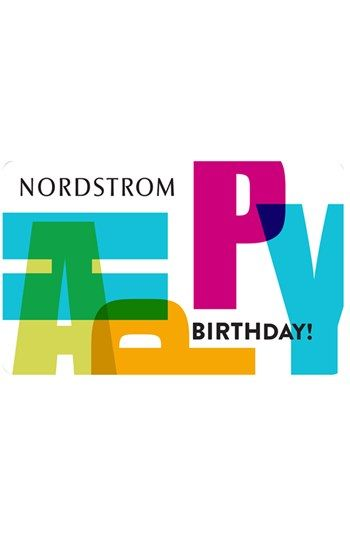 Nordstrom Happy Birthday Gift Card | typography | Nordstrom