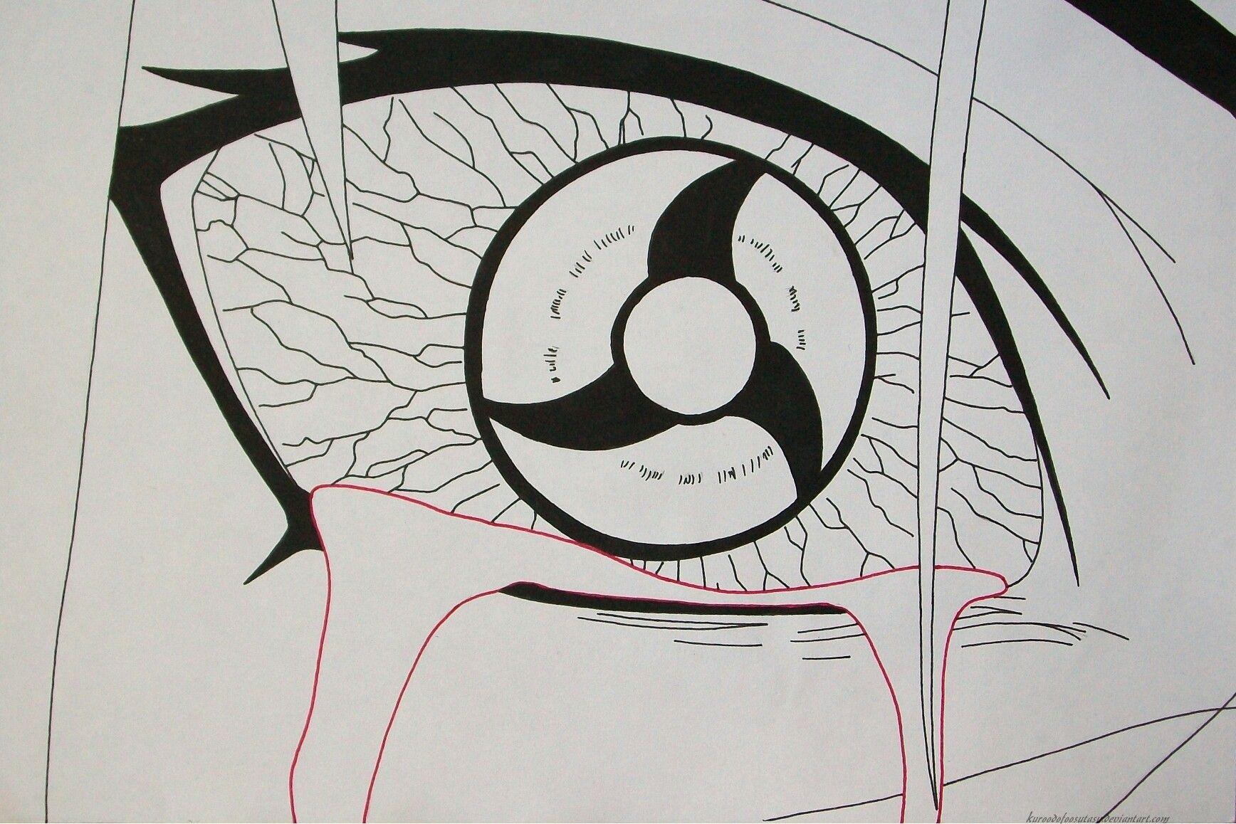 Mangekyou Sharingan Itachi Kakashi Desenho Desenhos Para
