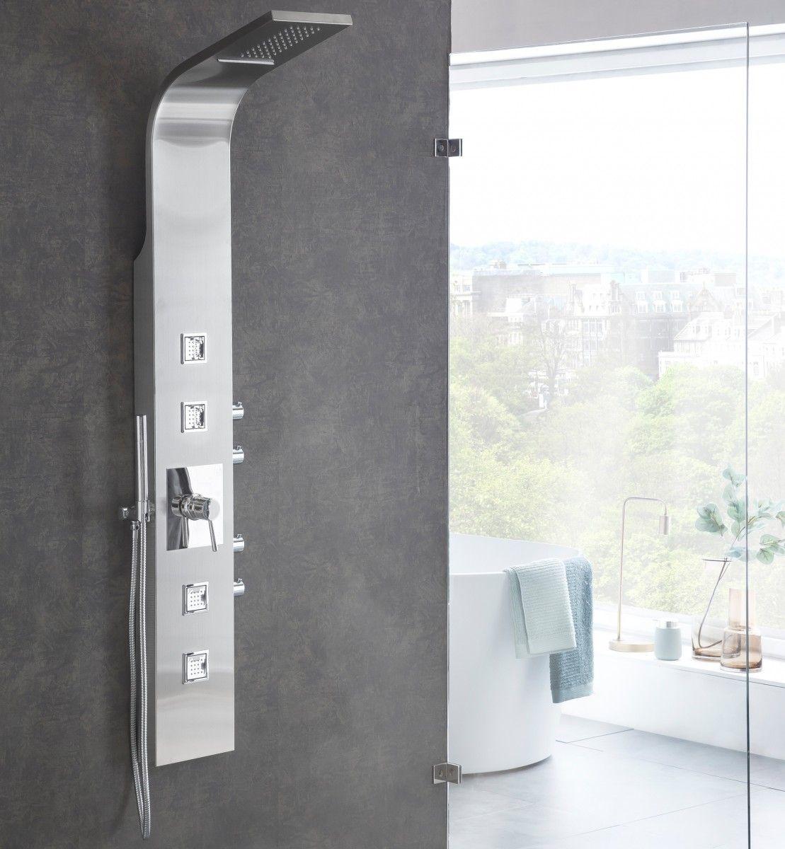 Wohnling Duschpaneel Mit Wasserfall Regendusche Wl2 007 Aus Edelstahl Dusche Bad Badezimmer Wohlfuhlen Wohnidee Luxus Regendusche Dusche Badezimmer