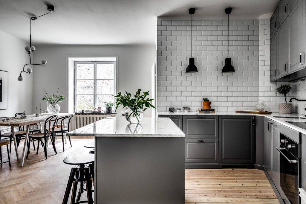 Azulejo biselado para una cocina nórdica | H O M E en 2019 | Azulejo ...