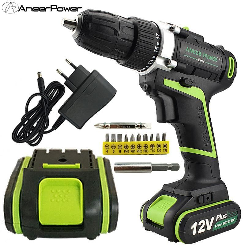 12v Plus Cordless Screwdriver Power Tools Battery Screwdriver Mini Drill Electric Drill Bit Hand Drill Batteries Mini Drillling Power Tool Batteries Electric Drill Cordless Screwdrivers