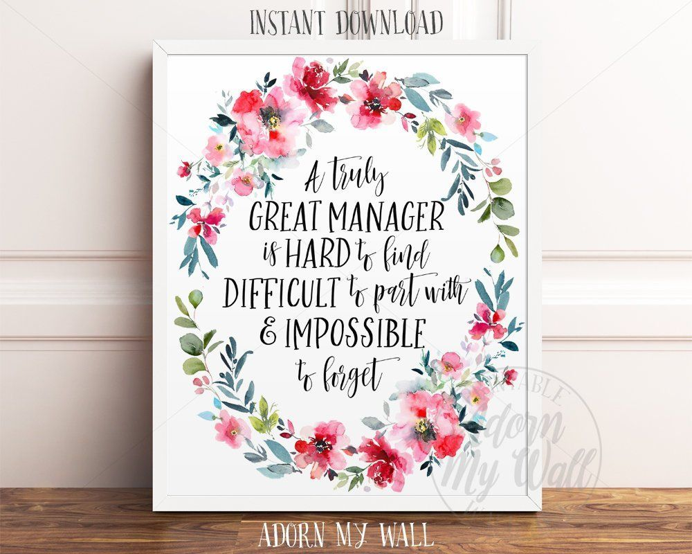 Find Manager gift for manager, printable manager gift, a truly great