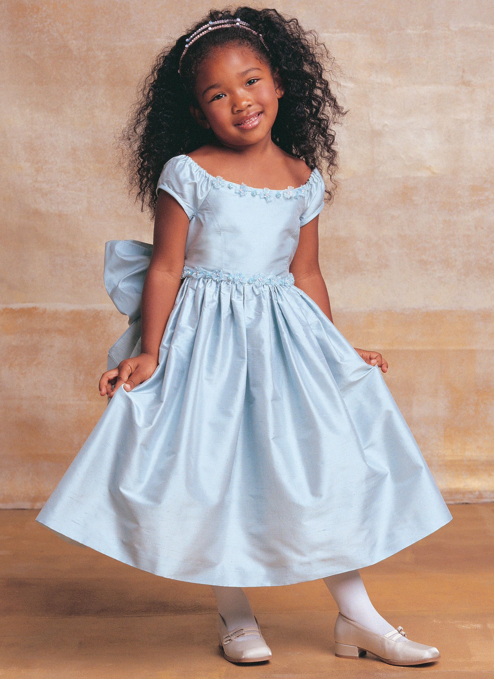 V7681 vogue patterns flower princess pinterest vogue patterns childrensgirls lined evening or lower calf length dress this has slightly gathered cap sleeves and rosette trim but the trim could be anything ombrellifo Images