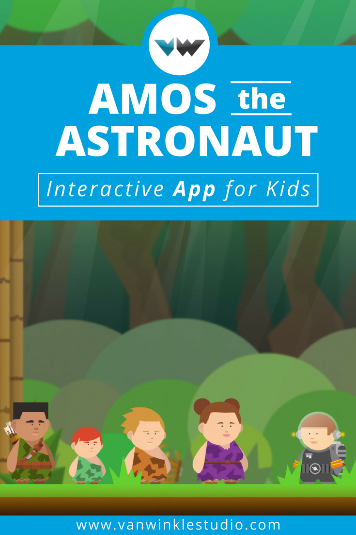 Amos the Astronaut Interactive App for Kids Fun