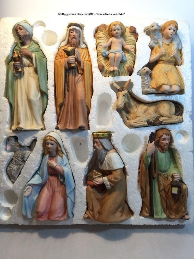Perfect HOMCO Home Interior 9 Piece Porcelain Figurines Nativity Set