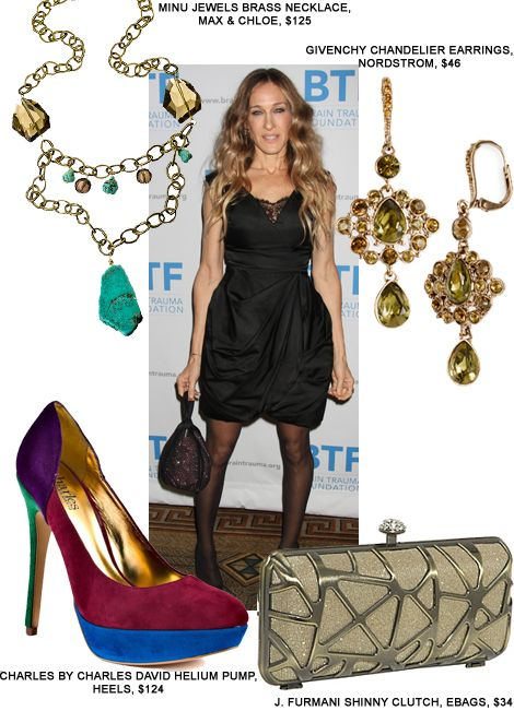 Accessorizeblacklacedress Black Dress Accessories Sarah Jessica
