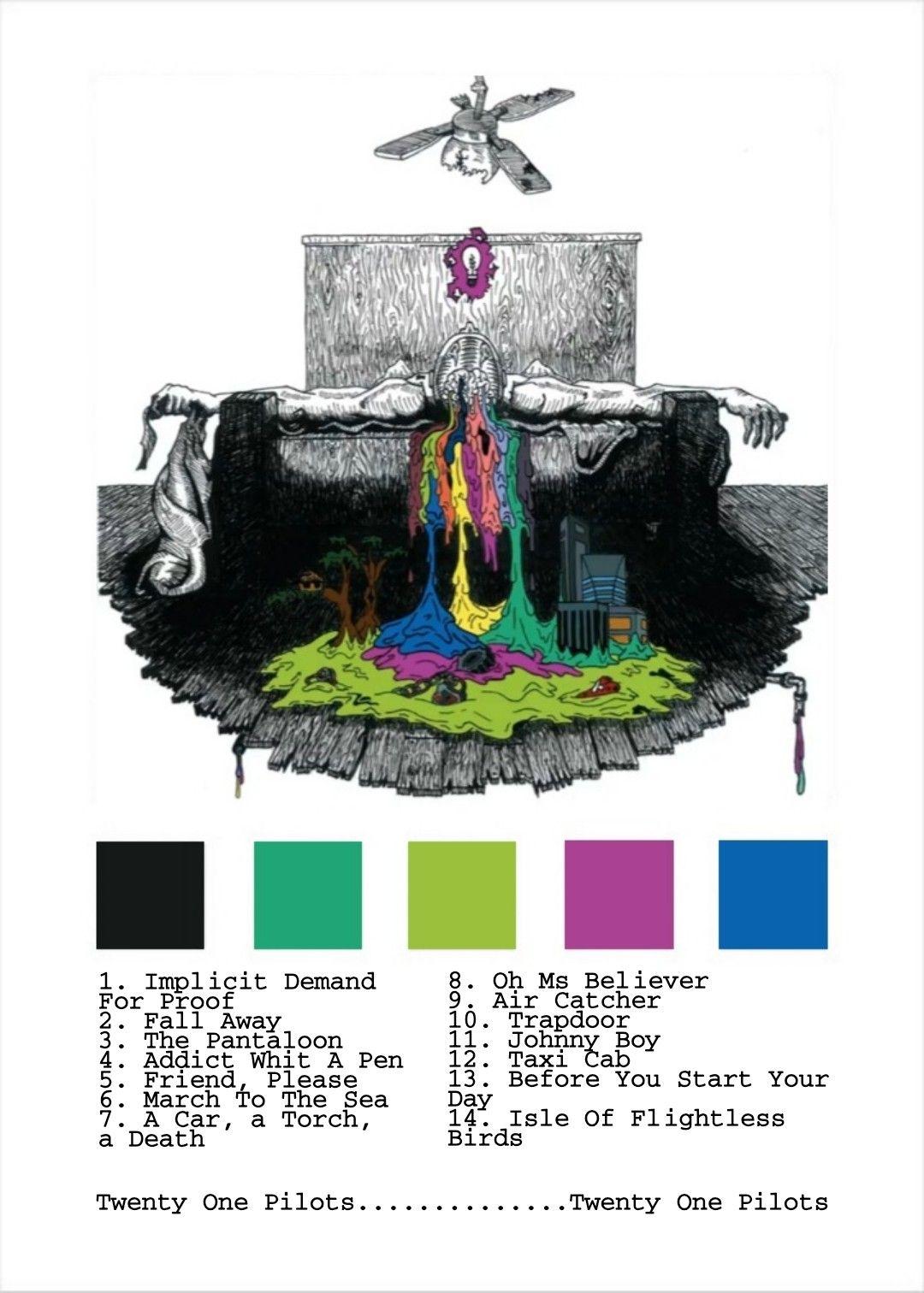 álbum Twenty One Pilots Twenty One Pilots Wall Art Printable Wall Art