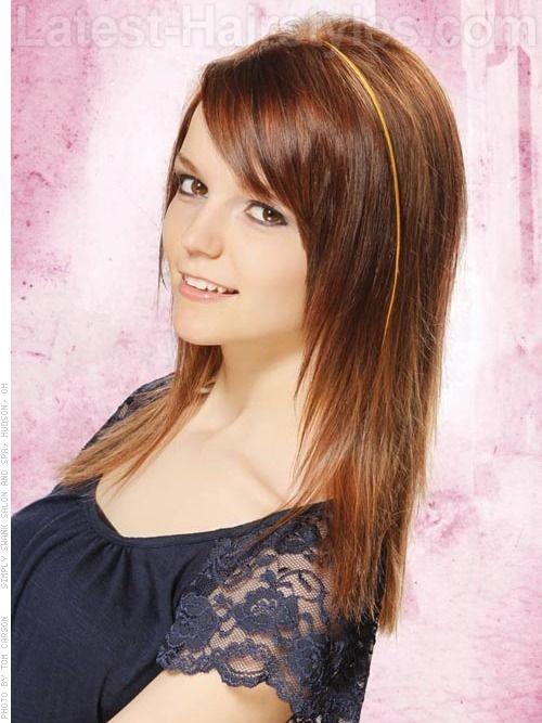 face teen oval cut hair