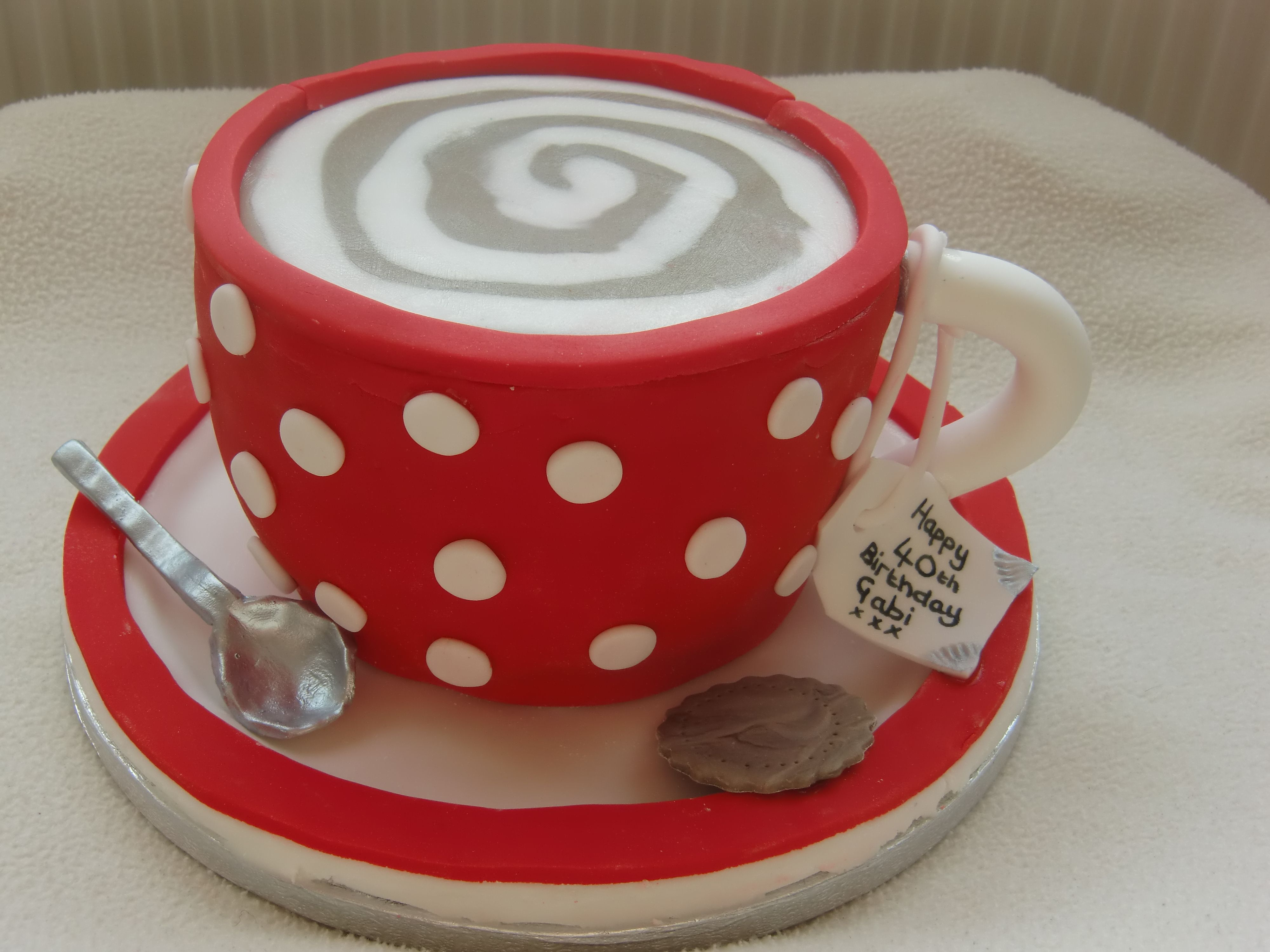 Coffee cup cake cake decorating pinterest cup cakes for Cup decorating ideas