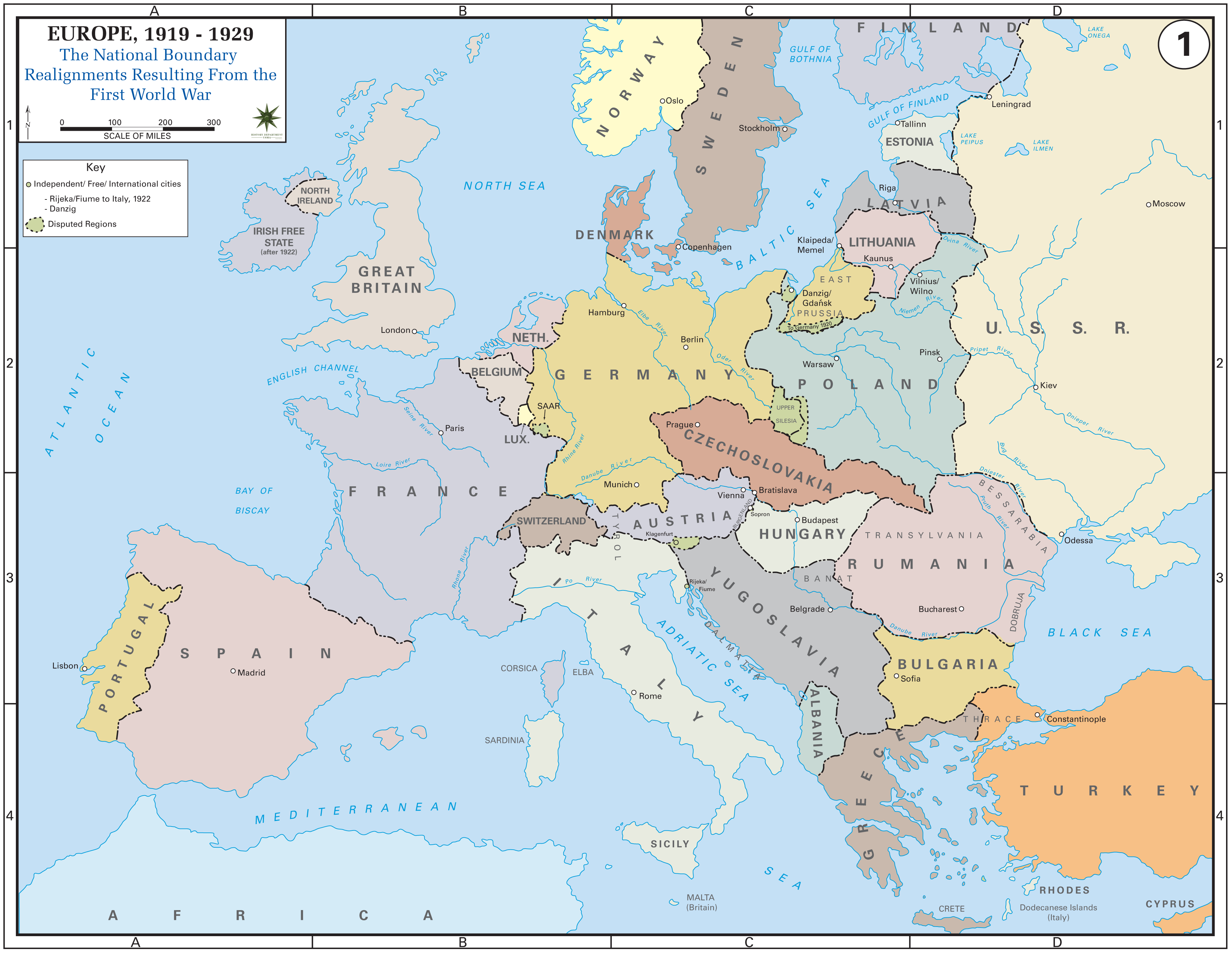 This is a map of europe after the treaty of versailles which was one this is a map of europe after the treaty of versailles which was one of the treaties that ended the war gumiabroncs Choice Image