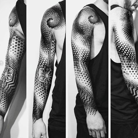Geometric Tattoos For Men Geometric Sleeve Tattoo Geometric Tattoo Sleeve Designs Geometric Tattoos Men