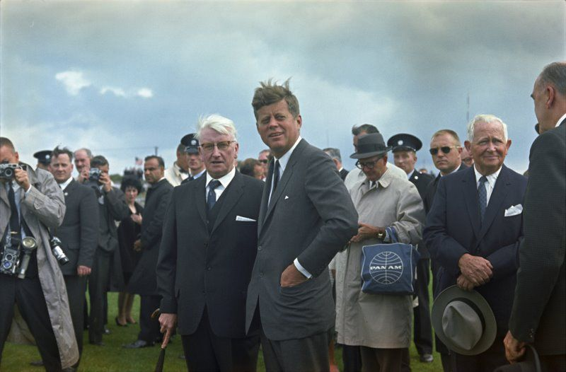 1963. 27 Juin. President Kennedy's appearance at New Ross Quay in New Ross, Ireland