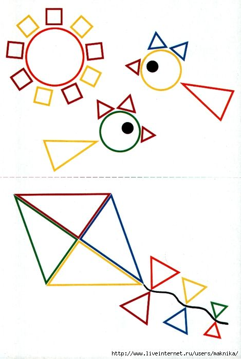 triangle shape drawings