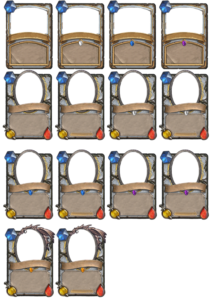 Hearthstone Empty Cards Priest By Demaretc On Deviantart Hearthstone Cards Trading Card Template