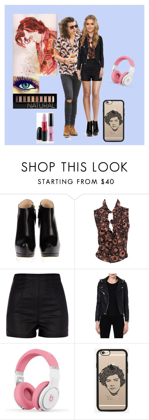 """""""date with Harry"""" by harrystyles-1d-jb-lover ❤ liked on Polyvore featuring Laundry, Giuseppe Zanotti, Vintage Collection, Marc, River Island, Maje, Nicki Minaj, Casetify and Forever 21"""