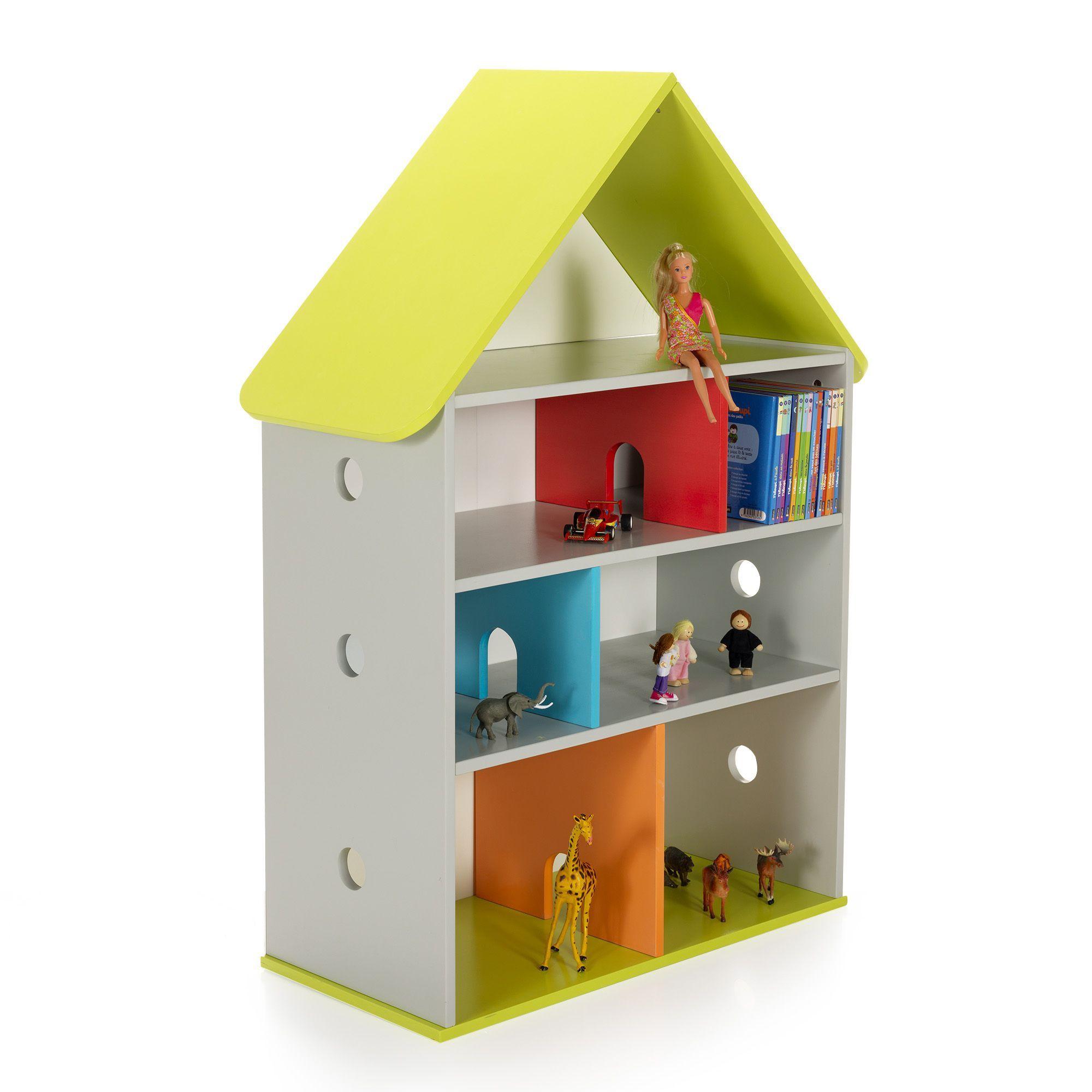 Meuble De Rangement Pour Garderie bibliothèque de rangement pour enfant 115x84cm - loupi