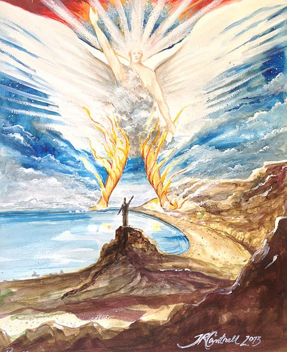 Revelation 10 Angel by Ron Cantrell | Biblical art, Jesus art, Revelation 10