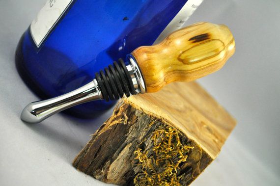 Wine Stopper Hand Turned Olive Wood Wine By