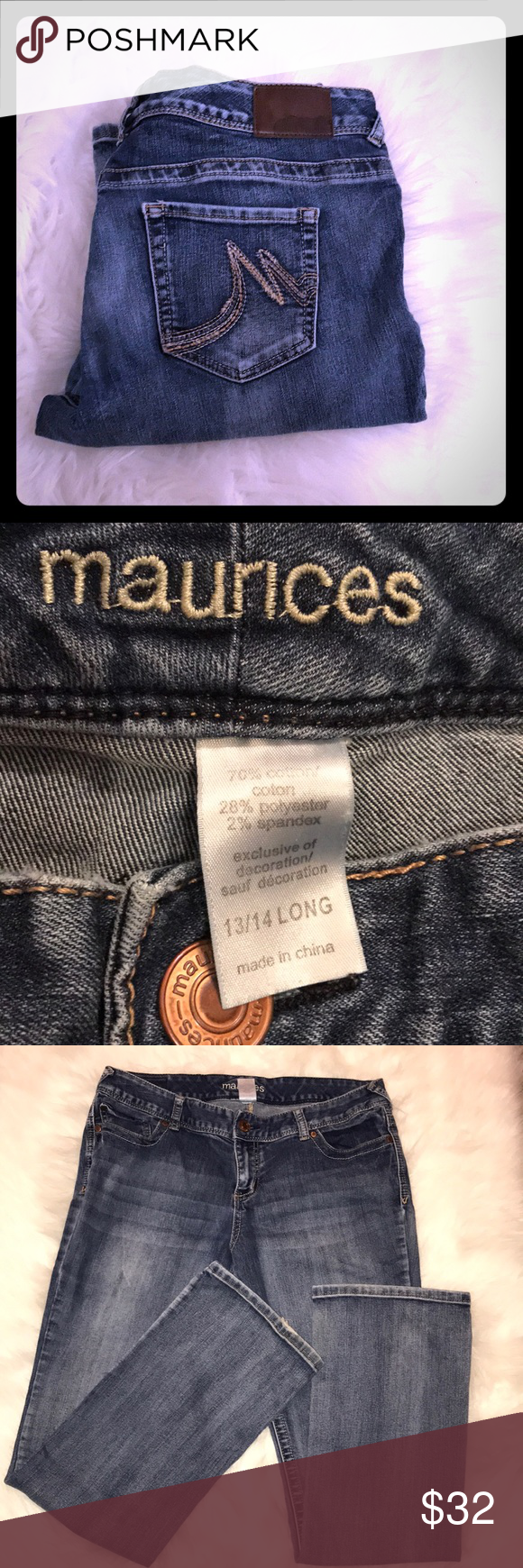 Maurice's Bootcut Jeans 👖 Size 13/14 Long Maurice's Bootcut
