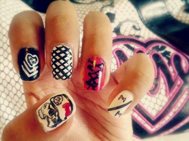 Metal mulisha nails!!!! | Nails | Pinterest