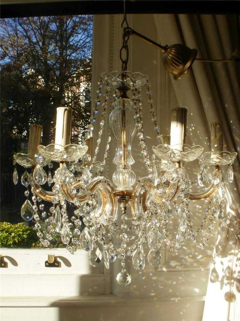 Vintage French Marie Therese Crystal Chandelier Chandelier