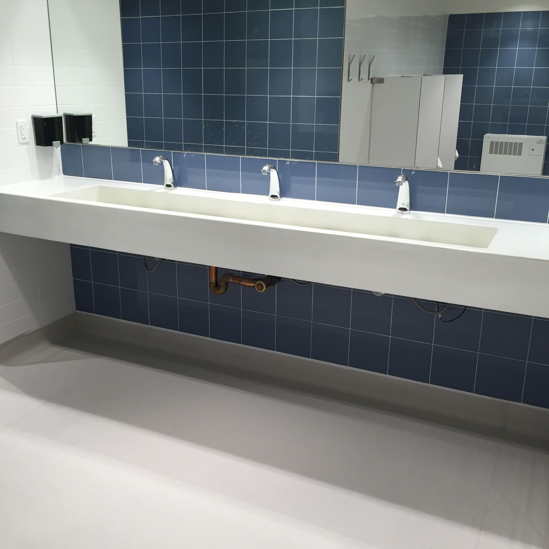 Natural White Concrete Trough Sink