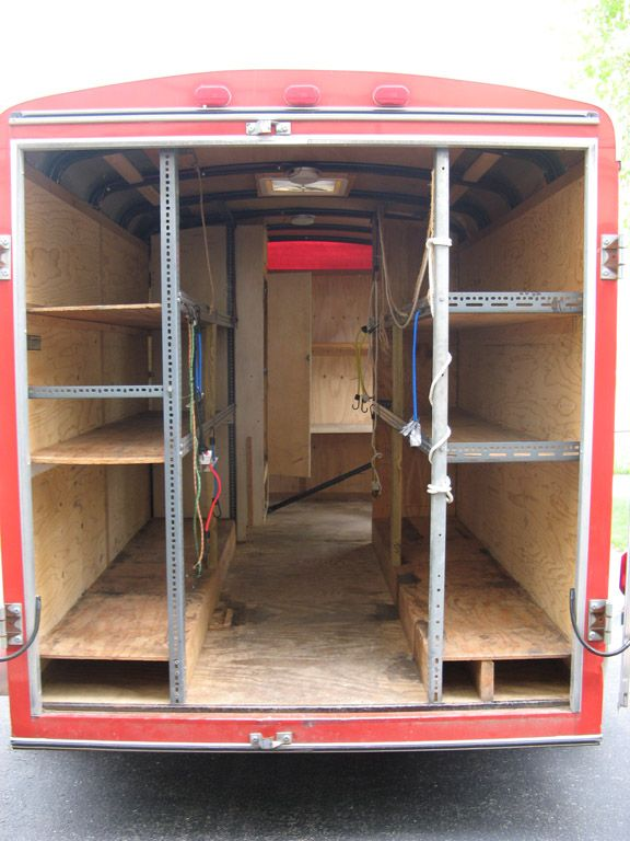 Enclosed Trailer Shelving >> Pin By Chuck Pack On Work Trailer In 2019 Trailer Shelving