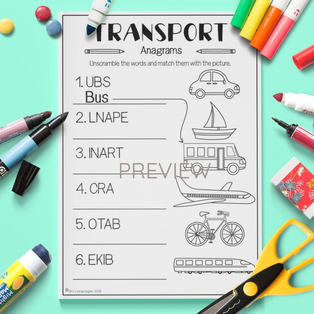 Transport Anagrams