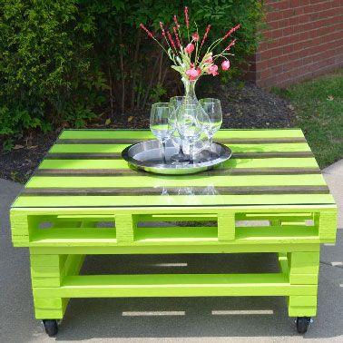17 Idées pour fabriquer une table basse palette | Palette peinture ...