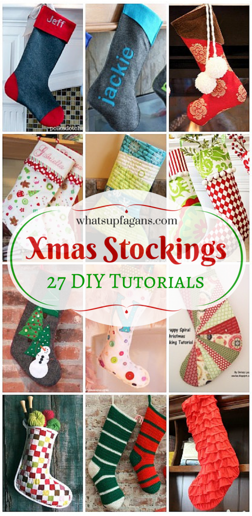27 awesome diy homemade christmas stockings tutorials for beginners on up i love handmade stockings what a great craft idea