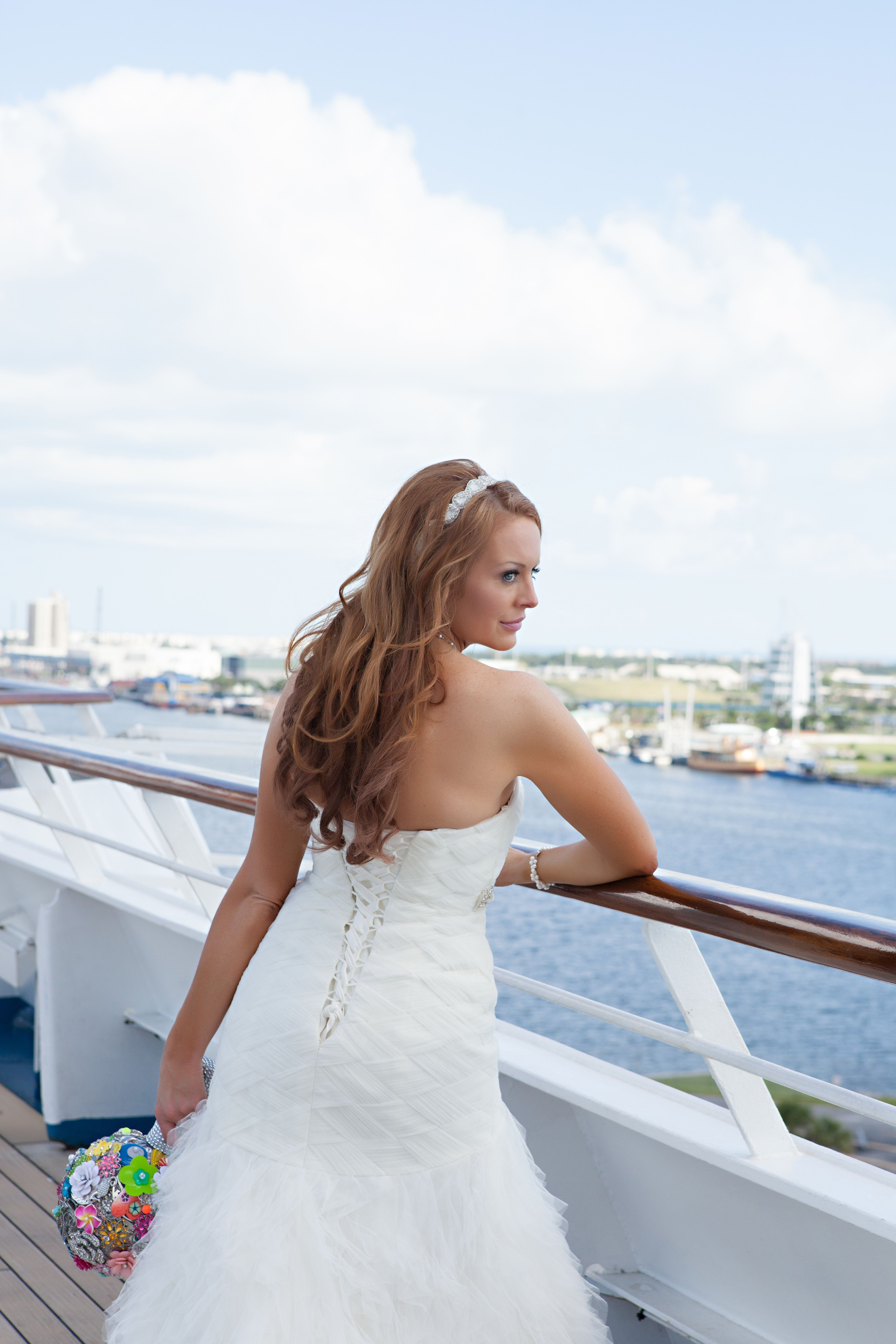Brooch bouquet Carnival Cruise ship Wedding Carnival