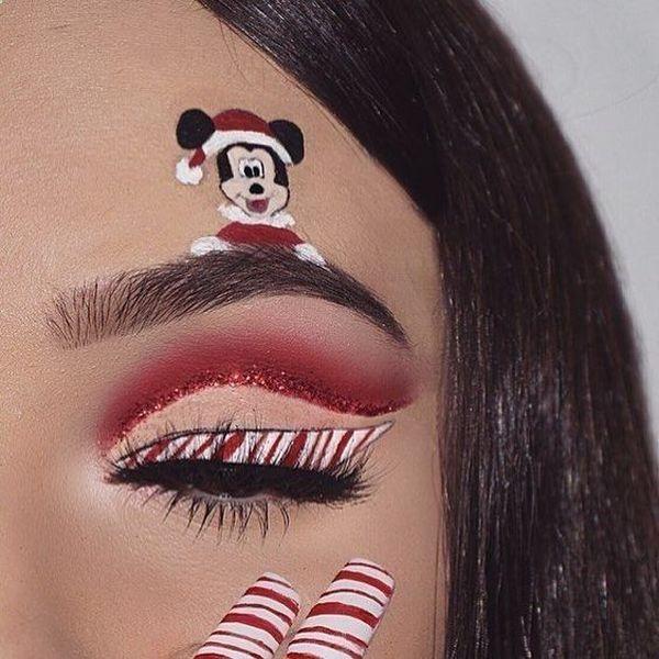 20 ideas de maquillaje para navidad