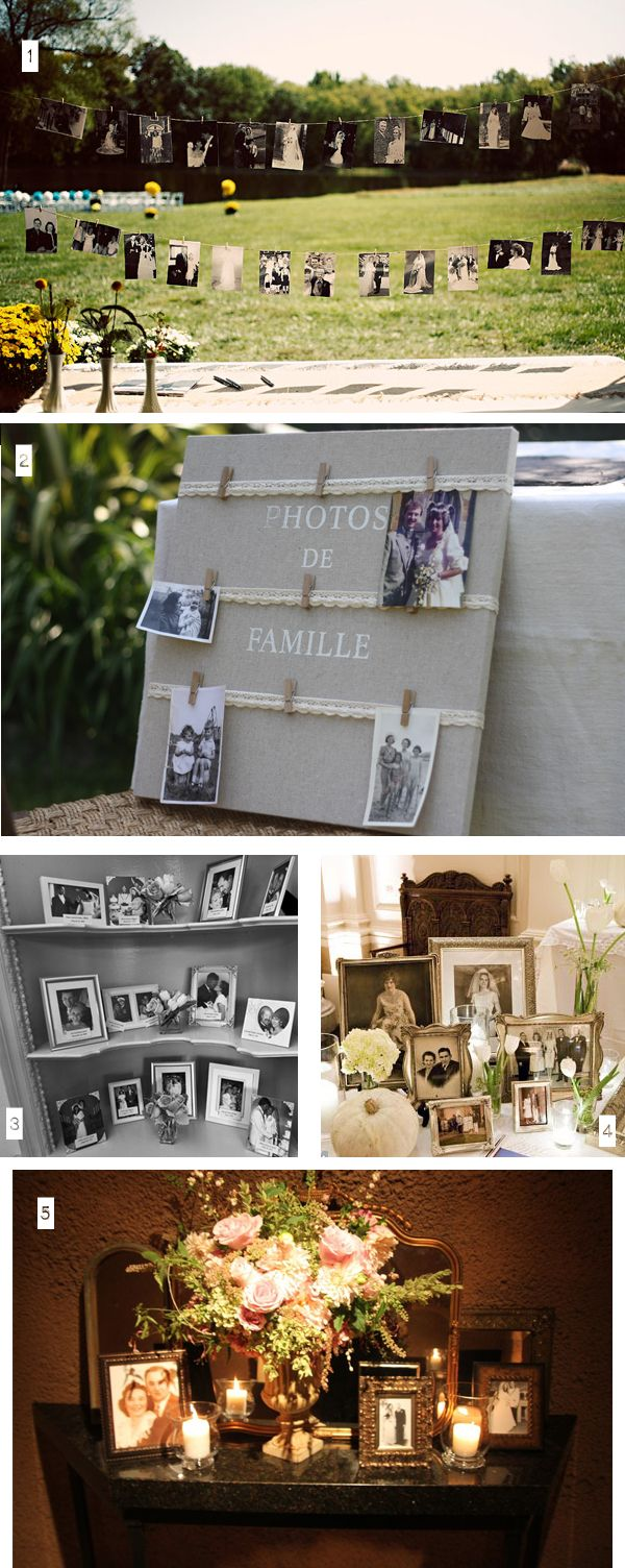 Ideas for displaying family photos at weddings ウェディング