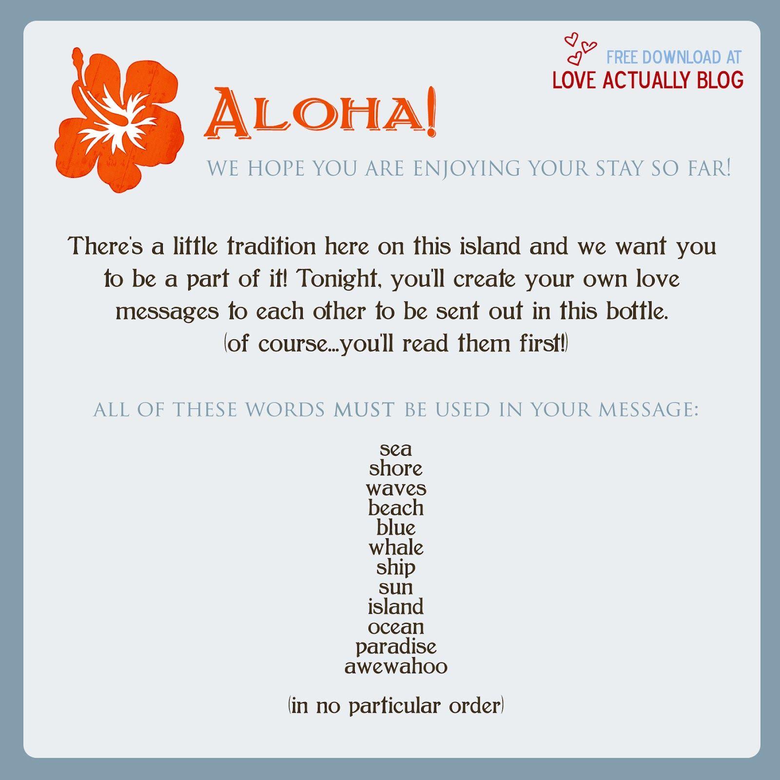 Love, Actually: Awewahoo! Hawaiian Themed Date Night at Home   Your ...