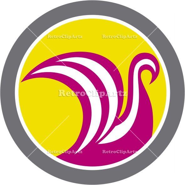 artwork, bird, boat, circle, Cygnus, graphics, illustration, mast, retro, sail, sailing, ship, sunburst, swan, transport,