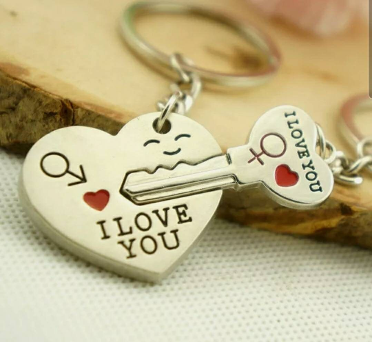 """Arrow & """"I Love You"""" Heart & Key Couple Key Chain Ring Keyring Keyfob Cupid Lover Gift for husband gift This Keyring is brand new and come with a set which contains a 2 pieces.Great Gift for someone specialGood gift for your friends, lover, family and children. giftThis keyring is not just only can hold your keys and also is a great decorationIt shines from all directions and definitely will draw a lot of attention.Main Color: Silver Tone, Black, RedPendant dimension: 27x31x3mm; 35x17x2"""