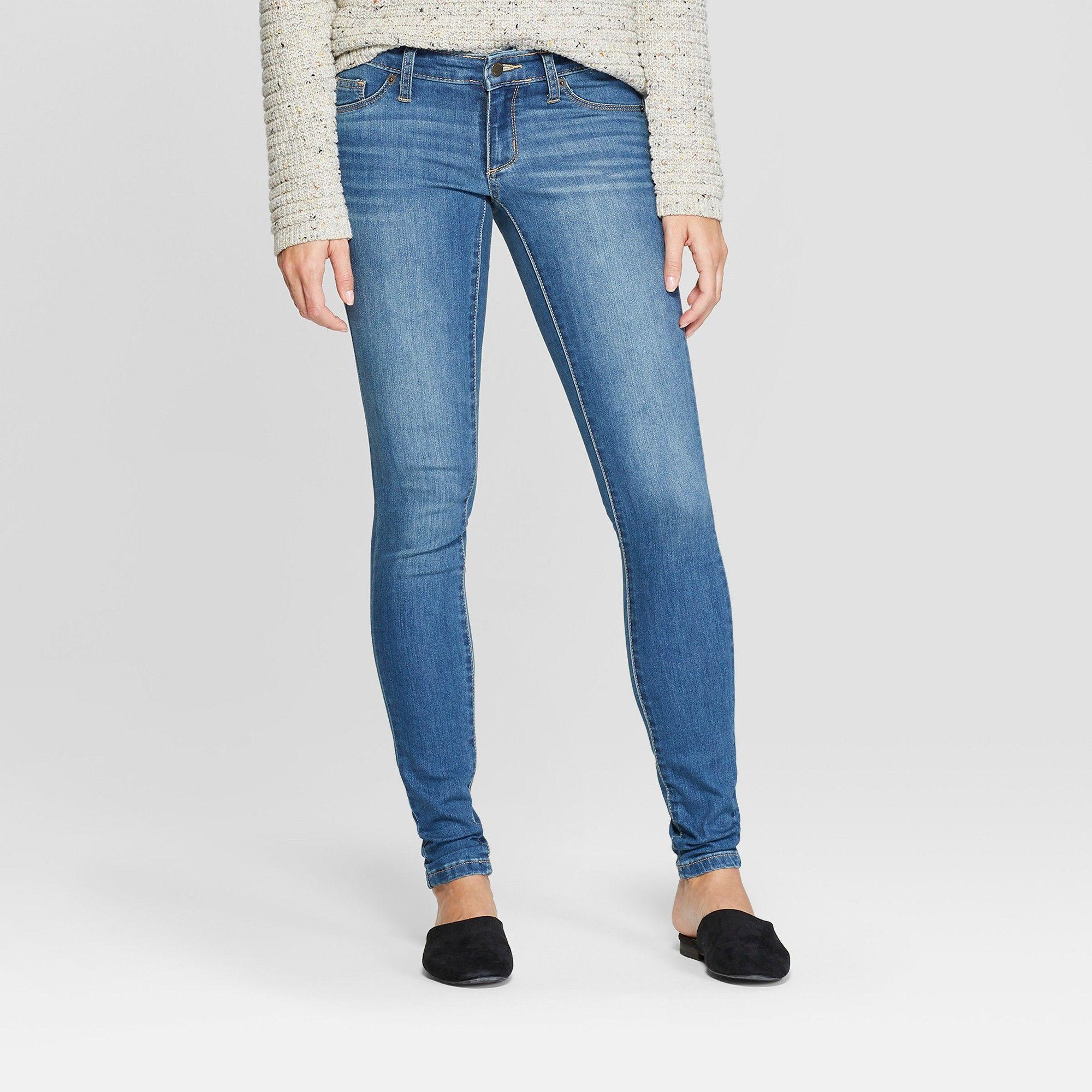 ae7156f5f23524 Women's Low-Rise Jeggings - Universal Thread Medium Wash 00 Short, Blue