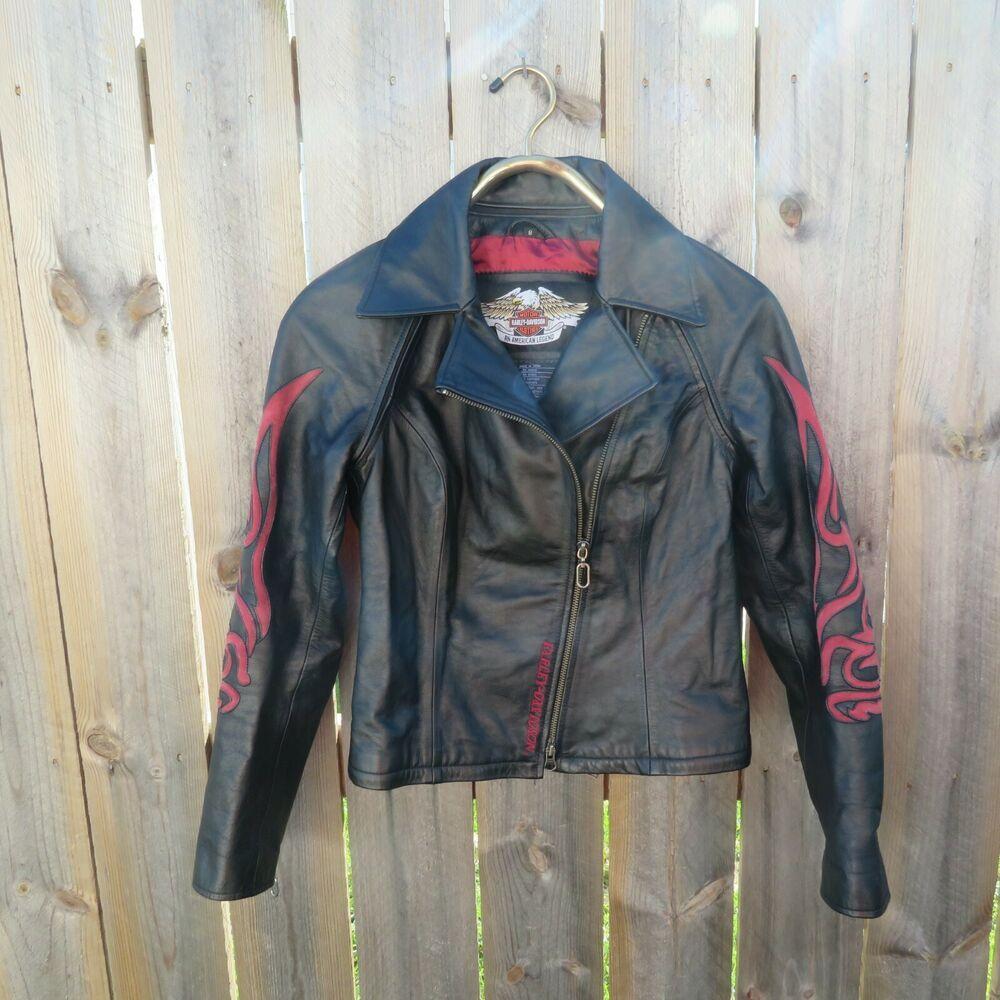 Women S Harley Davidson Black Leather Jacket Halter 3 In 1 Red Flames Size M Lz Harleydavidson 3 Leather Jacket Harley Davidson Clothing Black Leather Jacket [ 1000 x 1000 Pixel ]