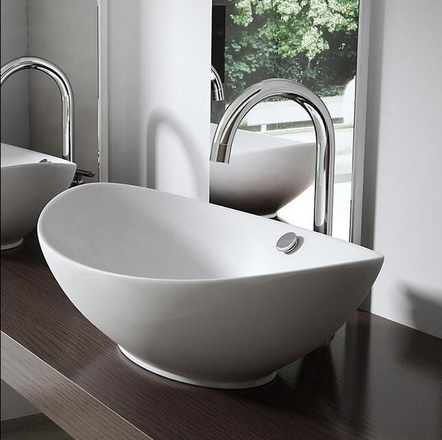 Details About Durovin Wash Basin Bowl Ceramic Counter Top Oval