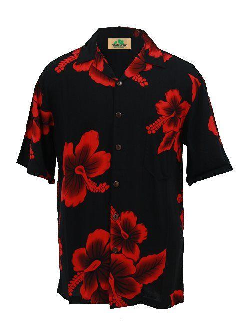 e5f1caf3 Men's Hawaiian Shirt [Big Hibiscus / Black & Red] - Men's Hawaiian Shirts - Hawaiian  Shirts   AlohaOutlet SelectShop