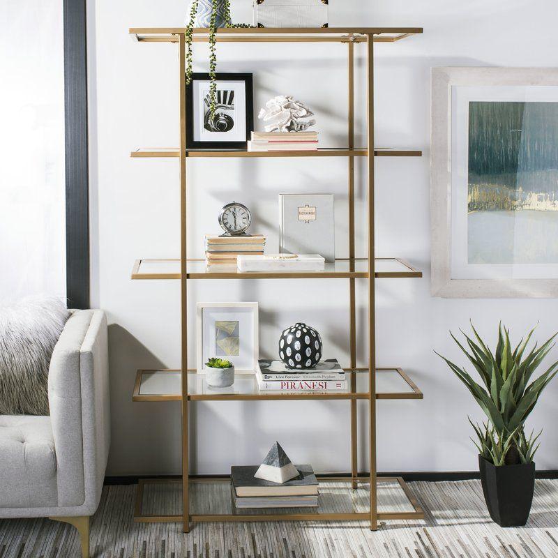 Vania Etagere Bookcase Etagere Bookcase Shelves Glass Shelves